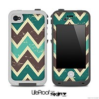 Vintage Green V2 Chevron Pattern Skin for the iPhone 5 or 4/4s LifeProof Case