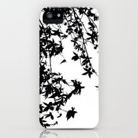 black on white iPhone Case by ingz | Society6