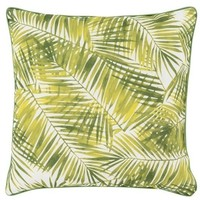 Areca Palm Leaf Print Oudoor Pillow