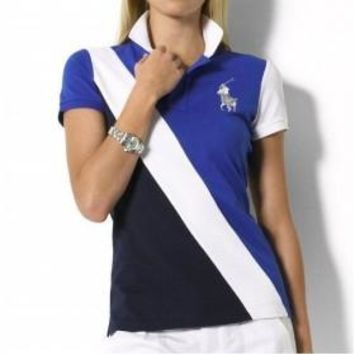 Beauty Ticks Ralph Lauren Women Bleecker Stripe Polo Wrlsp011