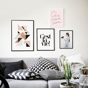 Wall Pictures For Living Room Cuadros Canvas Prints Nordic Poster Girl Bird Wall Art Canvas Painting Posters and Prints Unframed