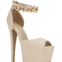Quilty Conscience Chain Strap Heels