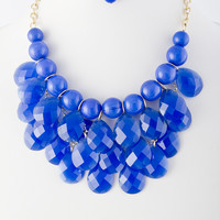 Olivia Acrylic Droplet Cluster Necklace