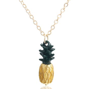 ON SALE - Golden Pineapple Pendant Necklace