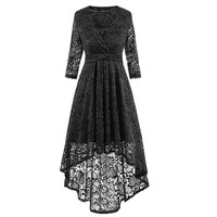 Lace High-Low Skater Dress for Party