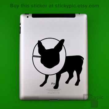 iPad - Sick Puppy (Laptop Decal Removable Vinyl Laptop Sticker Computer Decal PC Apple Macbook Mac Geekery Small Wall Sticker Dog Terrier)