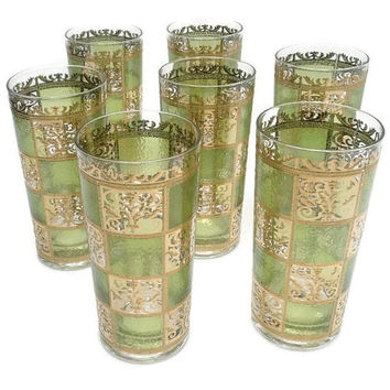 Culver Prado Pattern Set Of Seven Beverage Glasses