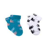 HUF - BABY SEED SOCKS 2-PACK SP15 // TURQUOISE / LIGHT BLUE / PINK