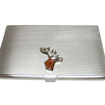 Colored Stag Deer Head Business Card Holder