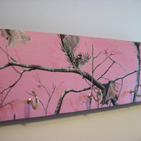 Camouflaged Key Rack Pink Camo Hunting Decor Real Tree Key Rack/Jewelry Rack