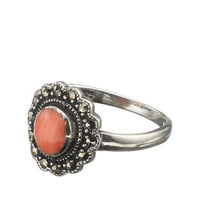 Sterling Silver Coral Ring | Pink | Accessorize