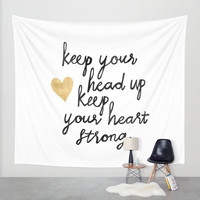 Keep Your Head Up Wall Tapestry by Tangerine-Tane