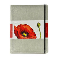 "Hand Book Journal Travelogue Watercolor Journal, 10 1/2"" x 8 1/4"", 60 Pages (30 Sheets) Item # 460648"