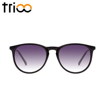 TRIOO Classic Style Black Polarized Sunglasses Elasticity TR90 Material Sun Glasses For Men Women High Fashion Timeless Shades