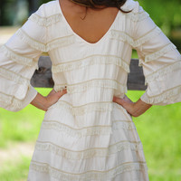 Ark & Company: Shake It For Me Dress: Ivory | Hope's
