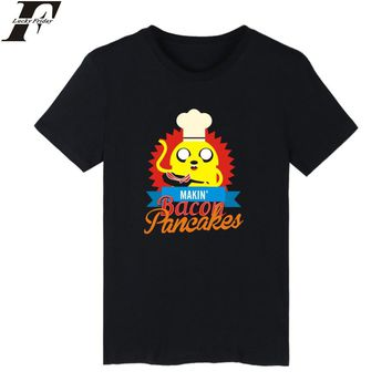 LUCKYFRIDAYF 2016 adventure Time tshirt summer adventure Time t-shirt adventure Time tshirt homme t shirt men hip hop adventure