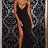 Abyss by Abby Ambrosia black strapless evening dress | ShaideBoutique.com UK – SHAIDE BOUTIQUE