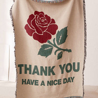 Chinatown Market For UO Thank You Woven Throw Blanket   Urban Outfitters
