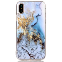 Mobile Phone shell For iphone X case Soft TPU Glitter shining with Marbled effect super thin Fitted For Apple X iX back cover