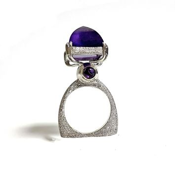 ALL NEW Tower Amethyst Ring