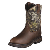 Ariat Workhog H2O Men's Pull-On Camo Boots - Mossy Oak Break-Up