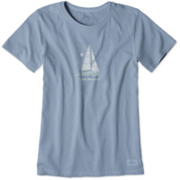 Women's Catch The Wind Sail Crusher Tee|Life is good