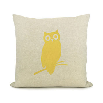 Owl pillow case Owl decor Geometric 16x16 by ClassicByNature