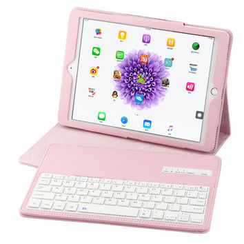 For Apple iPad Pro 9.7 inch Tablet Ultra Slim Wireless Bluetooth Keyboard Case Detachable With PU Leather Stand Cover