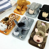 Winter Warm Doll Toy Plush Case Cover For iPhone