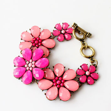 Awesome Shiny Hot Sale Gift Stylish Great Deal New Arrival Accessory Korean Floral Gemstone Bracelet [6573080455]