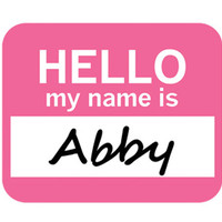 Abby Hello My Name Is Mouse Pad
