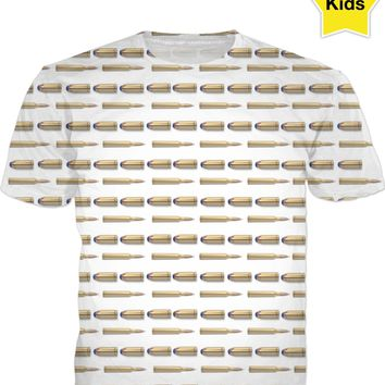 Bullets Kids Tee White