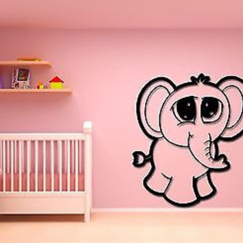 Wall Stickers Vinyl Decal Baby Elephant Cute Decor For Kids Children (z1768)