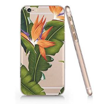 Bananas Leaves Slim Pattern Iphone 6 Plus Case, Clear Iphone 6 Plus Hard Cover Case (For Apple Iphone 6 4.7 Inch Screen)-Emerishop
