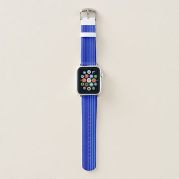 Blue Striped Pattern Apple Watch Band