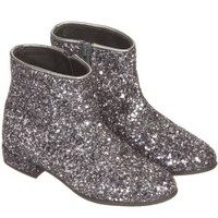 Girls Leather Glitter Boots