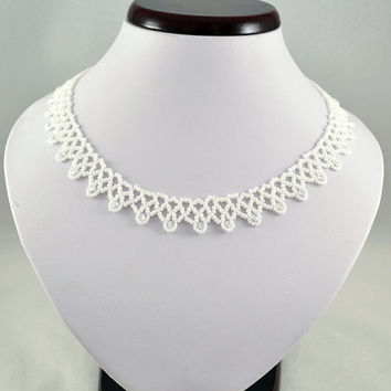 Wedding Necklace - Collar Toho beads