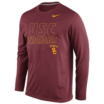USC Trojans Nike Legend Long Sleeve Performance T-Shirt – Cardinal