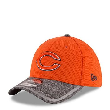 New Era Chicago Bears Mens Orange 2016 Training Camp Official 39THIRTY Flex Hat