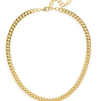 Flat Chain Necklace in Gold