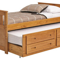 Sibley Twin Size Combo Captains Bed