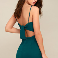 Toast to Life Teal Green Mini Dress
