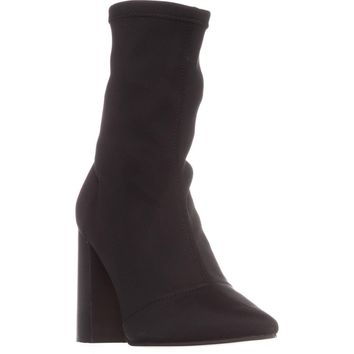 Steve Madden Lombard Ankle Boots, Black, 9 US