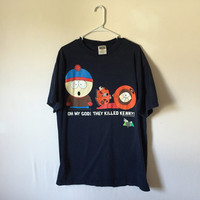 Vintage 90s South Park Shirt, South Park, 90s Cartoons, 90s Tee, Grunge Tee, Funny Tshirt, Unisex Adult Shirt, Size XL