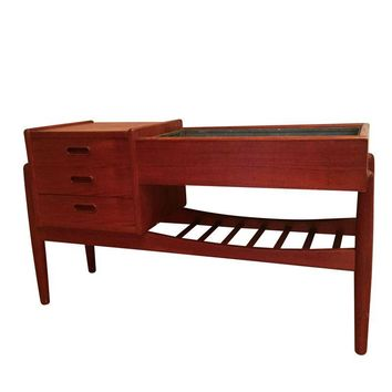 Pre-owned 1960s Danish Modern Entry Table with Planter