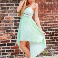 Sea Breeze Hi-Low Dress