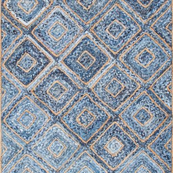 nuLoom Hand Braided Diamonds Rima Jute Area Rug