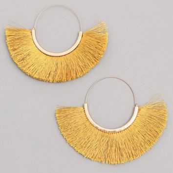 Large Fan Hoop Earrings