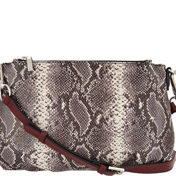 G.I.L.I. Italian Leather Pleated Double Zip Crossbody — QVC.com