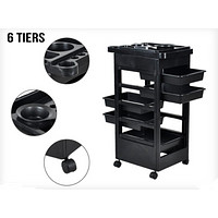 Beauty Salon Spa Hairdressing Tools Storage Rolling Trolley Caster  5 drawers
